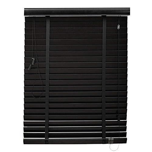 YAPIN Jalousien Hölzerne Rollläden/Vertikale Verdunkelung, die Jalousien anhebt/Wasserdichter Schimmelschutzvorhang mit seitlichem Zug für Fenster/Türen, Mehrfarben, kundengerechte Größe