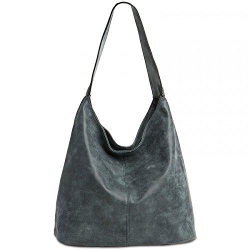 CASPAR TS1015 Damen Vintage Schultertasche , Farbe:dunkelblau;Größe:One Size