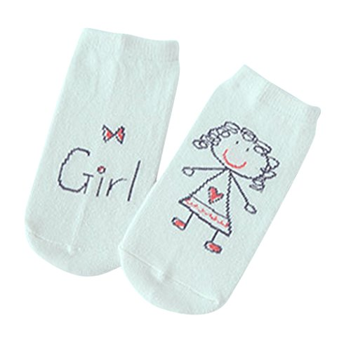 Phenovo Unisex Cotton Baby Socks Newborn Anti-slip Cute Floor Booties Socks Red M  available at amazon for Rs.285