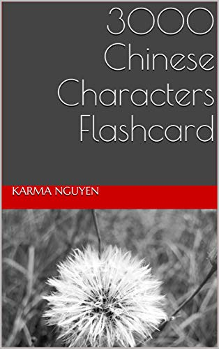 3000 Chinese Characters Flashcard (English Edition)