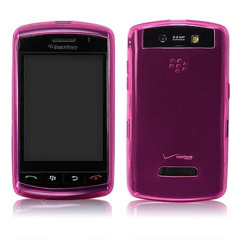 BoxWave Pure Blackberry Storm 9530Kristall Slip–Colorful Slim Fit TPU Gel Haut Schutzhülle für Schutz, der dauerhaft Anti-Rutsch (Fuchsia)