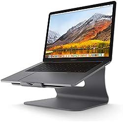 Bestand Support de radiateur pour Ordinateur Portable Exquisite Aluminium Compatible avec Apple Macbook et Tous Les Ordinateurs Portables, Gris(Breveté)