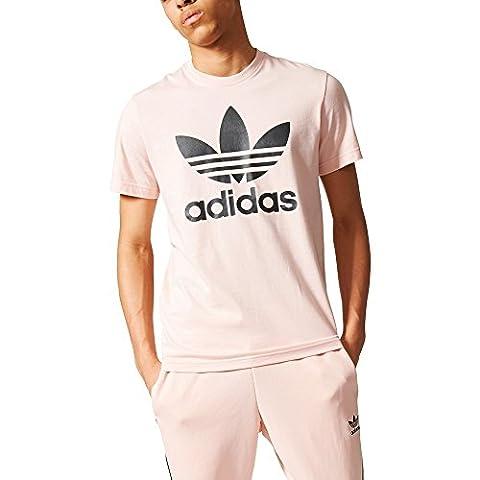 adidas Originals Trefoil T-Shirt Herren rosa / schwarz, L - 54