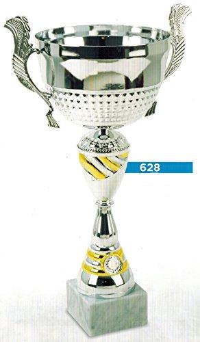 TROFEO COPPA PER PREMIAZIONI SPORTIVE - H CM 26,5 D CM 10 - RIFINITA - MADE IN ITALY - 10 Trofeo Coppa