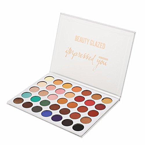 BEAUTY GLAZED Fards à paupières Palettes Mat Eyeshadow Palette de maquillage 35 Colours Eyeshadow Palette Makeup Palette Concealer Eye Shadow