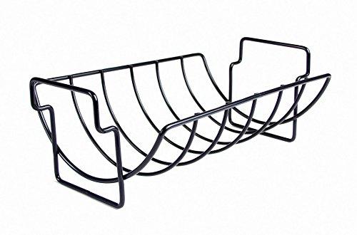 CHARCOAL COMPANION Rastrelliera per arrosto/Costole Reversibile Antiaderente Nero