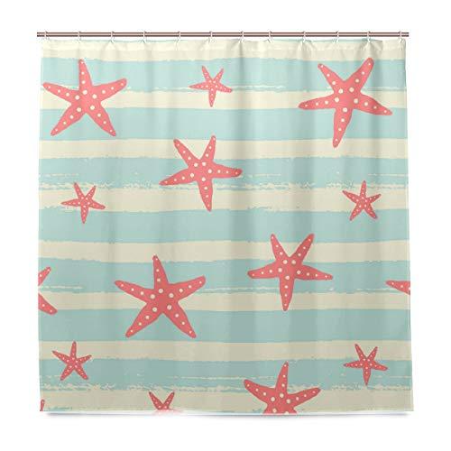 vinlin Ocean Seestern Muster Wasserdicht Badezimmer Zubehör Vorhang für die Dusche Badewanne Vorhang 182,9x 182,9cm