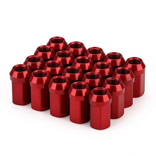 DONXIANFENG 20pcs HEX 17mm M12 M12 * 1.25 * 1.5 Radmuttern JDM Zubehör 7075-T6 Aluminium Taper konische Sitz 32 mm Länge Radmuttern (Color Name : Red, Specifications : M12x1.5)