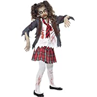 Smiffy's Zombie School Girl - Halloween - Children Fancy Dress Costume
