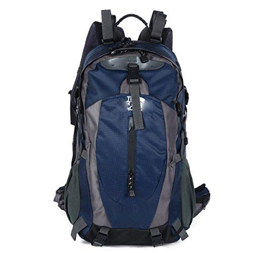 40L Großer Camping Rucksack Wandern Daypack Reise Rucksack Casual Rucksack Tasche,SkyBlue OldBlue