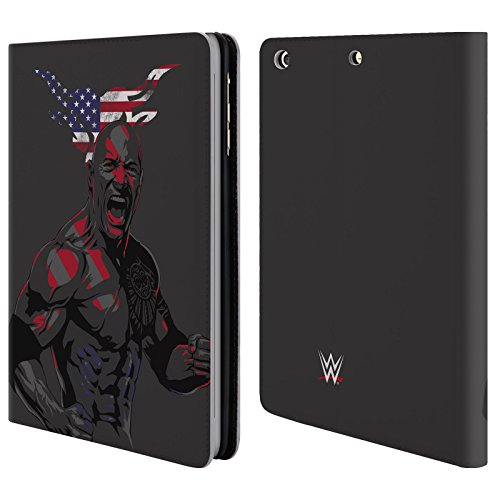 official-wwe-american-power-the-rock-leather-book-wallet-case-cover-for-apple-ipad-mini-1-2-3