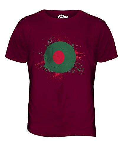 CandyMix Bangladesch Fußball Herren T Shirt Burgunderrot