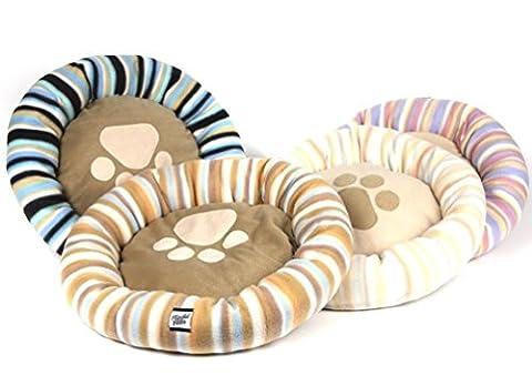 Pet Bed Dog Cat Puppy Kitten Round Soft Warm Fleece Lining Cosy Washable Cushion