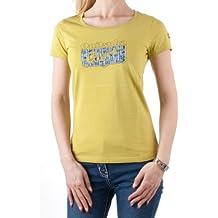 Onitsuka Tiger - Camiseta - Cuello redondo - Manga corta - para mujer Verde Green Tea Talla:small