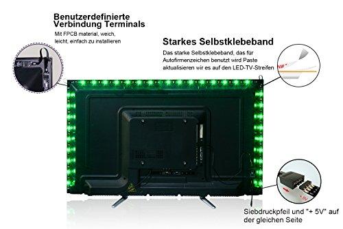 V smd m rgb led light strip bar tv torna kit di