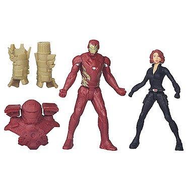 irst Avenger - Civil War - Figuren 2er Pack - Iron Man und Black Widow inkl. Zubehör - 2 Spielfiguren a 6 cm ()