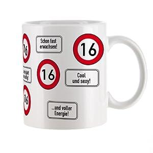 private signs Kaffeetasse zum 16.Geburtstag mit Verkehrszeichen - 16 -