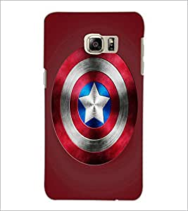 PrintDhaba Captain America Shield D-3328 Back Case Cover for SAMSUNG GALAXY NOTE 5 EDGE (Multi-Coloured)