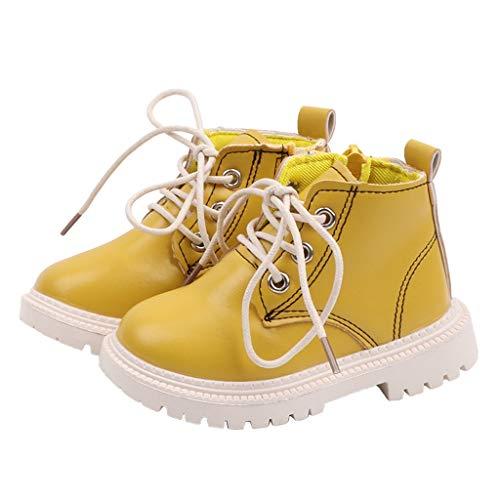 Kostüm Kleinkind Apple - Kriosey Unisex-Kinder Stiefeletten Kurzschaft Stiefel Classic Sneaker Kinderschuhe Combat Boots Baby Mädchen Jungen Schneeschuhe rutschfest Verschleißfest Herbst Kurzstiefelette