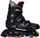 California Pro Misty II Inline Roller Skates (Black, 6 UK)
