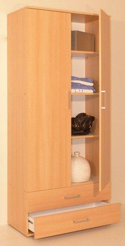bv-vertrieb Moebel Mehrzweckschrank Kleiderschrank Abstellschrank Buche - (1754) - Buche Kleiderschrank