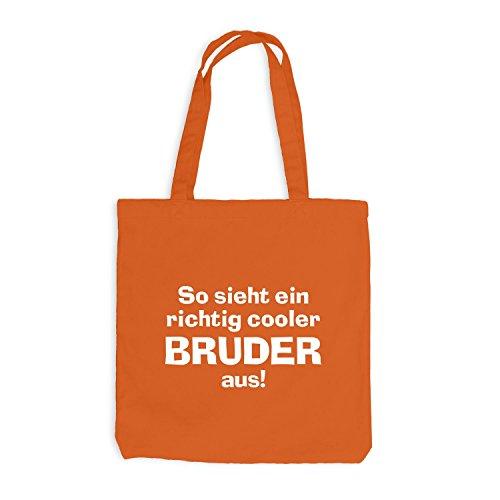Borsa Di Juta - Fratello Molto Figo - Fratello Di Famiglia Brudi Bro Arancione