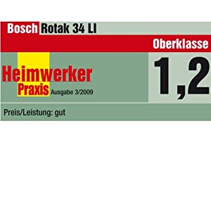 bosch rotak 34 li akku rasenm her akku und ladeger t 36 v bis zu 300 m empfohlene. Black Bedroom Furniture Sets. Home Design Ideas
