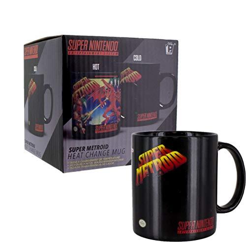 Super Metroid - Farbwechsel-Tasse | Offizielles Merchandise - Gewaschen Logo Mens Hoodie