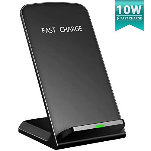 Seneo [Qi Chargeur sans Fil Rapide] Wireless Quick Charge 2.0, Chargeur à Induction pour Samsung Galaxy Note 8/ S8/ S8 Plus/ S7 / S6 Edge Plus, iPhone8/ 8 Plus, iPhone X/XS/XR/Google Pixel 3