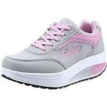 Zapatos para Mujer,Las Mujeres de Moda de Malla de Aumento de Zapatos Blandos Fondo