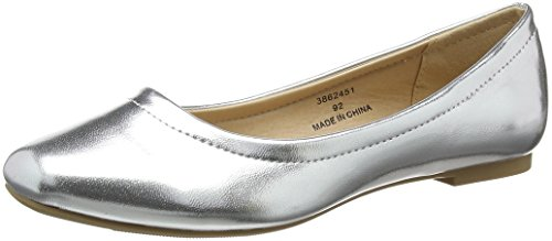 92 Ballerinas Look Silver Jolene Square New Damen silver 8xUqSxf0