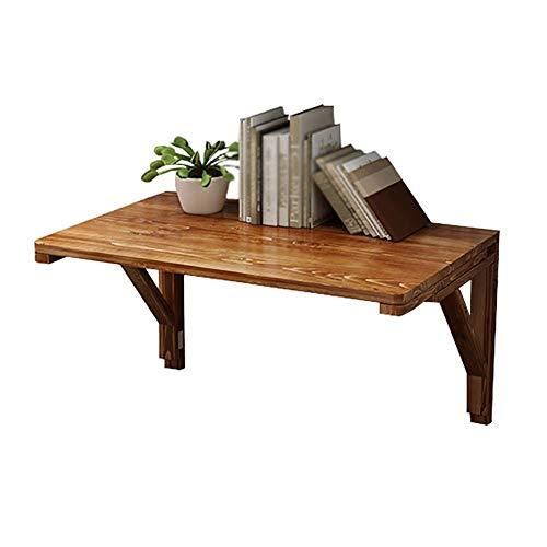 XXZDZ-Massivholz Klappschreibtisch Wandklapptisch, Küchen- & Esstisch Schreibtisch, Platzsparender Computertisch (Größe: 120X60cm)