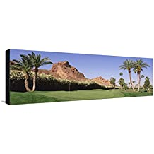 Golf Course Near Rock Formations, Paradise Valley, Maricopa County, Arizona, USA Leinwand von Panoramic Images - 30x91 cm