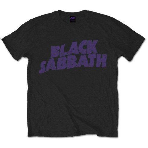 Black Sabbath Herren T-Shirt Wavy Logo Vintage, Black, M -
