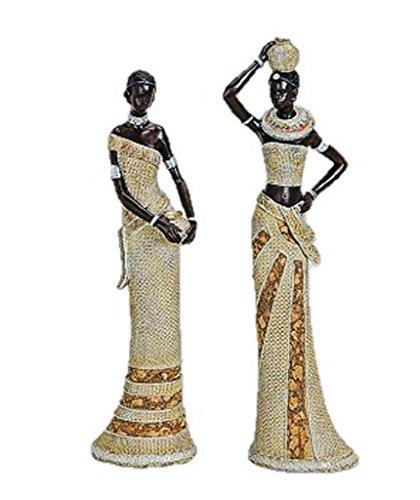 Frauen Afrikanische Figuren (2 Afrikanerinnen 34cm bis 36cm afrikanische Frauen Figuren Afrika)