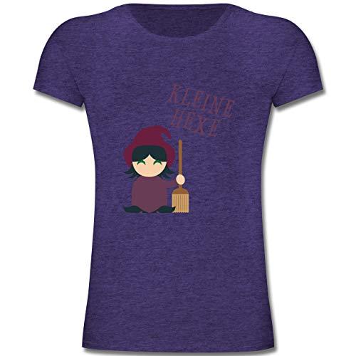 Anlässe Kinder - Kleine Hexe süß - 164 (14-15 Jahre) - Lila Meliert - F131K - Mädchen Kinder T-Shirt