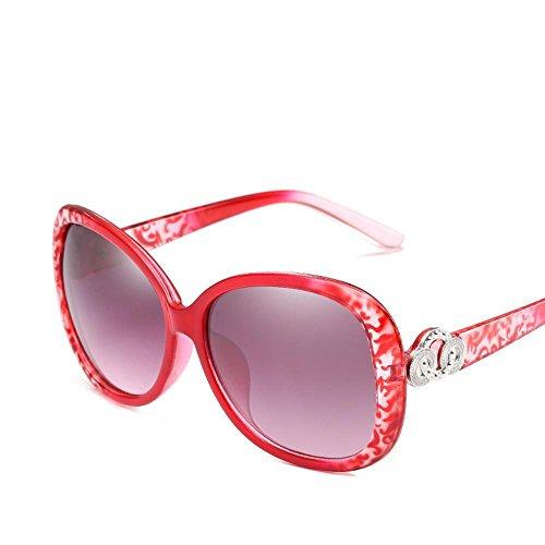 Aoligei Mode Dame Sonnenbrillen Trend in europäischen und amerikanischen Stil die großen Rahmen Sonnenbrillen allgemeine Anti-UV-Retro-Sonnenbrillen