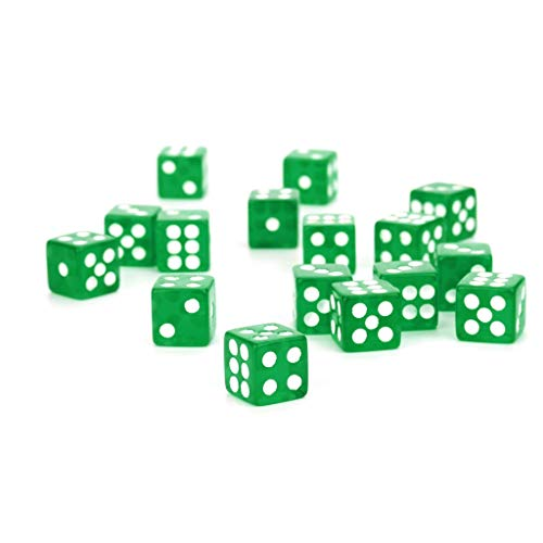 MA87 Würfel Party für Game Dungeons & Dragons Polyhedral D6 Mehrseitige Acrylwürfel 25St (grün)