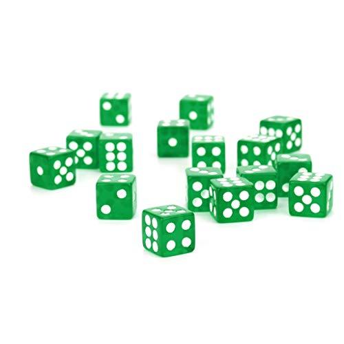 ür Game Dungeons & Dragons Polyhedral D6 Mehrseitige Acrylwürfel 25St (grün) ()