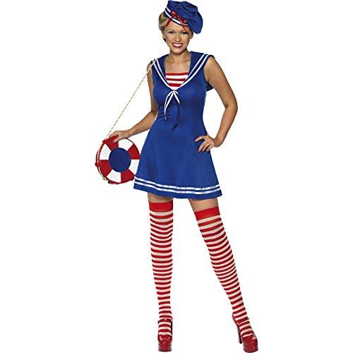Matrosin Kostüm, Kleid, Barett und Strümpfe, Größe: M, 33074 (Matrose Kostüm Ideen)