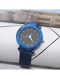 fc2888c6f537 Watch Home Modelos de explosión 2018 Correa Perezosa con imán cinturón de  Malla de Piedra Reloj de Dama Estrella Cara Diamante imán…