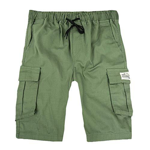 Herren Shorts Cargo Summer Fashion Shorts Lounge Freizeitshorts Multi-Pockets Shorts Grün XXL - Multi Pocket Shorts