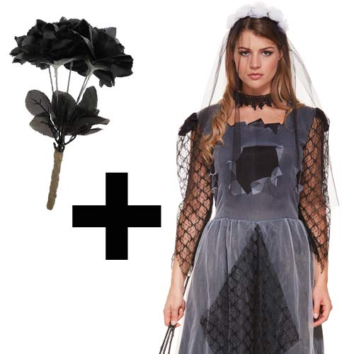 MFD Ladies Corpse Bride Costume + Black ()