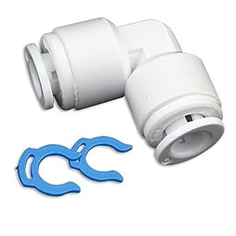 Adapter Fitting Verbindungsstück Winkel 1/4 Zoll Schlauch (6mm)