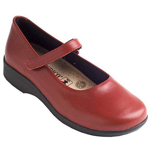 Arcopedico Womens Scala Leather Shoes Cerise
