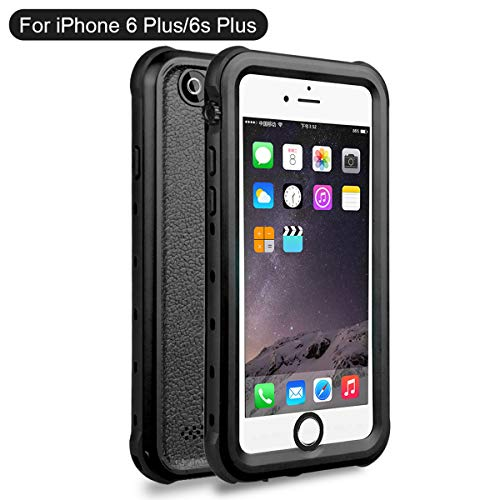 iPhone 6 Plus iPhone 6s Plus Waterproof Custodia Impermeabile 360° Grado Casefirst Water Resistant Morbido TPU Frame and PC IP68 Waterproof Full Body Case Custodia impermeabile Antiurto Protezione dello Schermo Cover Snowproof Dustproof Case - iPhone 6 Plus iPhone 6s Plus ( )