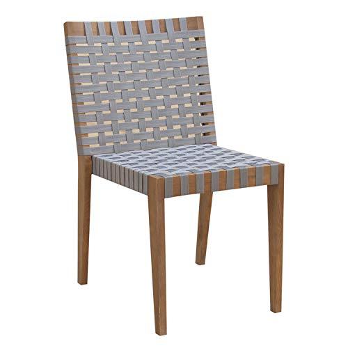 Chaise de Jardin empilable Acacia Gris (x2) Zanzibar