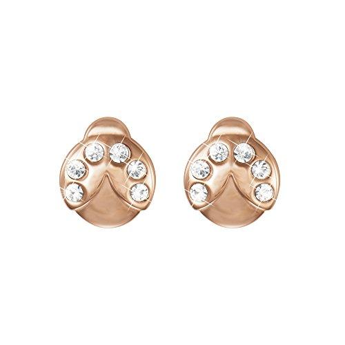 Stroili - Orecchini coccinella in acciaio rosato e cristalli per Donna - Lady Glam