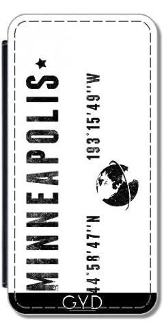 Leder Flip Case Tasche Hülle für Huawei P8 Lite (ALE-L21) - Minneapolis by les caprices de filles