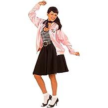 Grease Chaqueta Pink Lady–Chaqueta de entrenamiento Rosa XL 46/48AÑOS 50y 60Chaqueta Grease Jacket Rock N Roll Disfraz